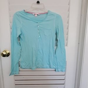 Victoria Secret long sleeved top small blue